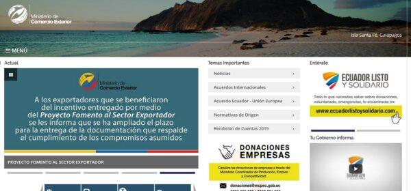 Ministerio de Comercio Exterior MCE (www.comercioexterior.gob.ec)