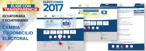 Cambio de domicilio electoral CNE Ecuador 2017