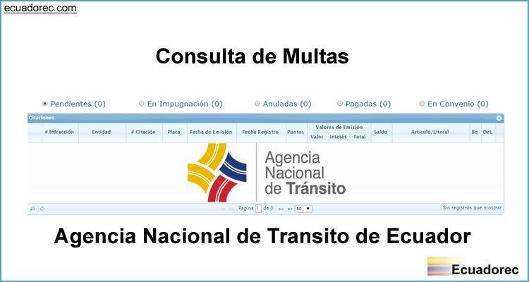 Consulta de Multas y Citaciones ANT