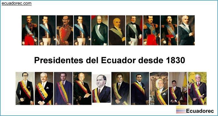 Presidentes del Ecuador desde 1830