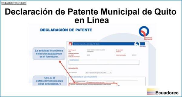 Resultado de imagen para patentes municipio QUITO