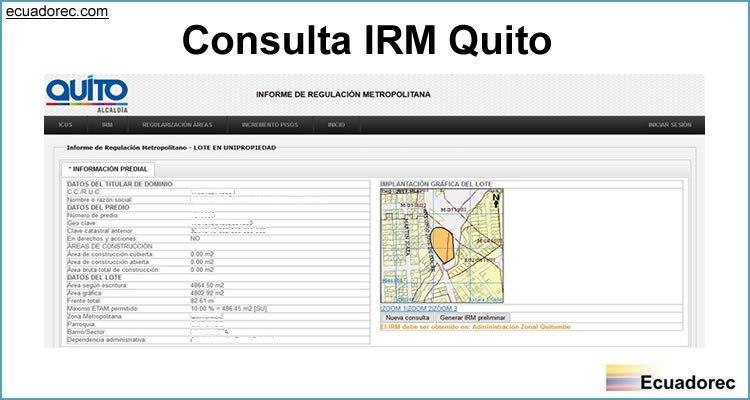 Consulta IRM Quito