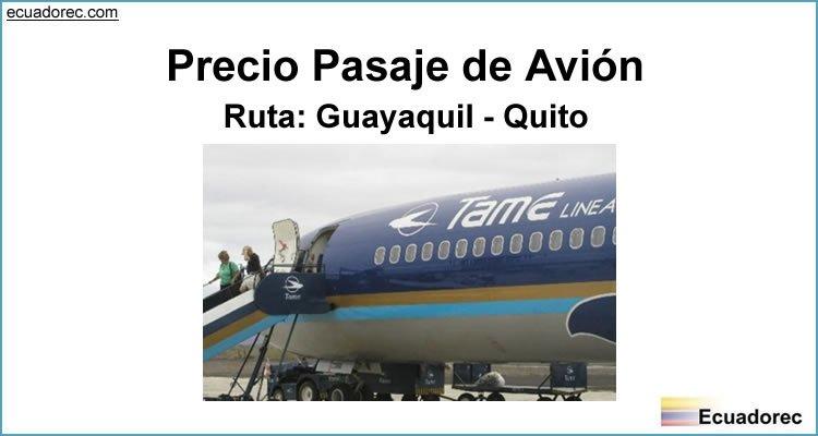 Precio Pasaje de Avión Guayaquil Quito