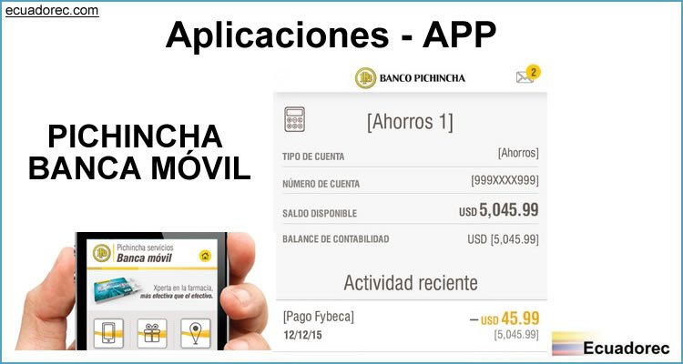 Aplicaciones - APP PICHINCHA BANCA MÓVIL