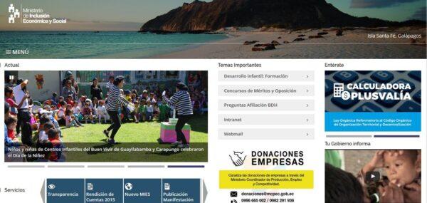 Ministerio de Inclusión Económica y Social (MIES)