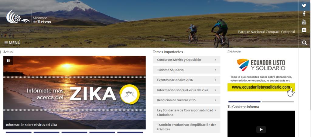 Ministerio de Turismo (www.turismo.gob.ec)