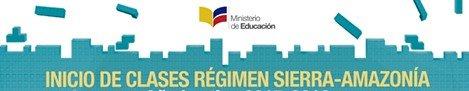 Fechas Inicio de Clases Régimen Sierra 2016-2017
