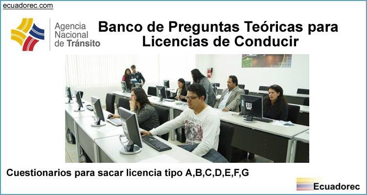 Banco De Preguntas Ant Examen Teorico Licencia De Conducir