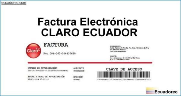 Factura Electrónica CLARO ECUADOR