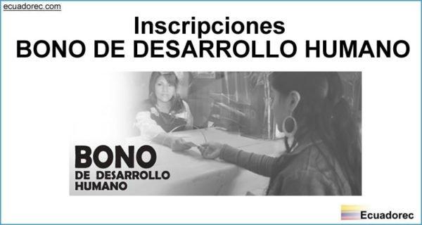 Proceso de Inscripción Bono de Desarrollo Humano
