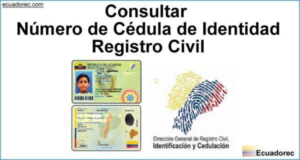 Consultar Número de Cédula de Identidad
