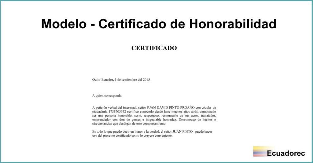 u1408 u00bfcomo hacer un certificado de honorabilidad   u00bb modelo word